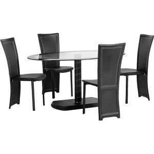 Essgruppe Beane mit 4 Stühlen von Home & Haus