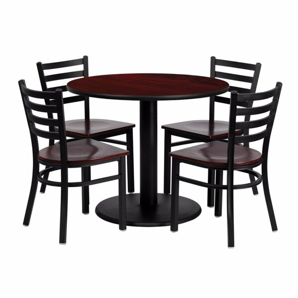 Haffner Round Laminate 5 Piece Dining Set by Ebern Designs