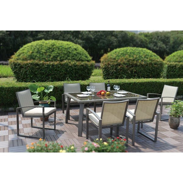 Thornton 7 Piece Dining Set with Cushions by Latitude Run