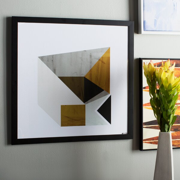 Mustard Geo Framed Wall Art by Langley Street