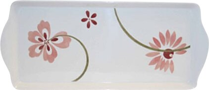 Square Pretty Pink Melamine Platter by Corelle