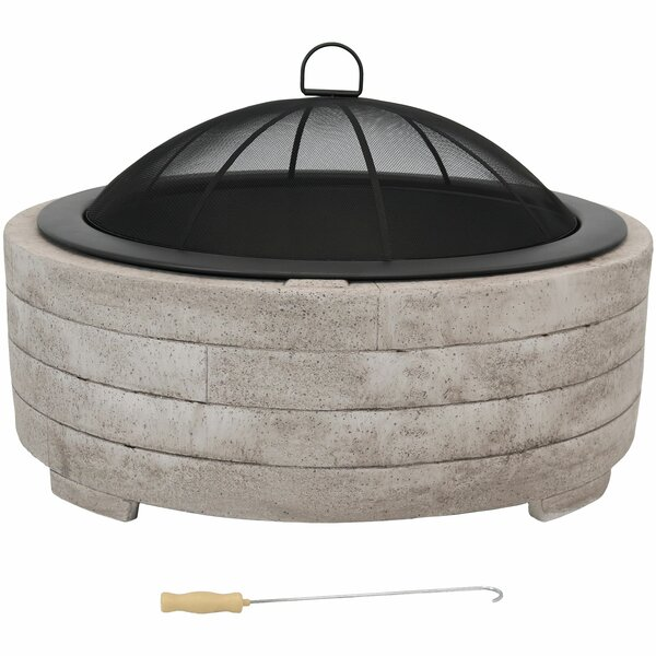 Skip Faux Stone Ring Concrete Wood Burning Fire Pit by Darby Home Co