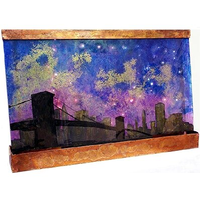 Galaxy Resin/Metal San Francisco Night Fountain by Harvey Gallery