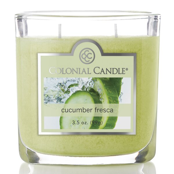 3.5 oz Cucumber Fresca Jar Candle by Colonial Candle