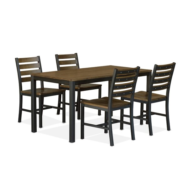 Loft 5 Piece Solid Wood Dining Set by Elan Furniture