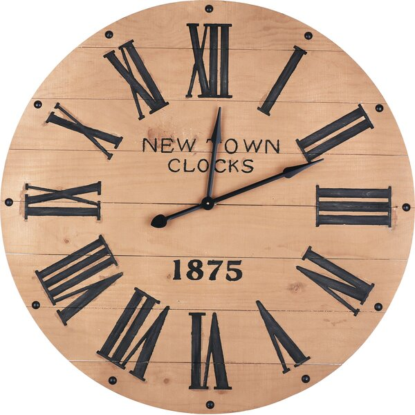 Oversized Jarrow Indoor 43 Wall Clock by Williston Forge