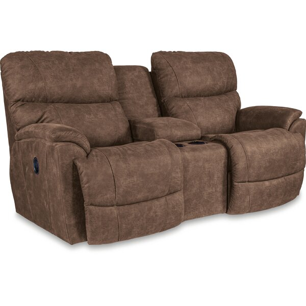 Trouper Reclining Loveseat with Console by La-Z-Boy