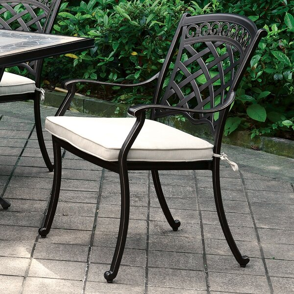 Springfield Patio Dining Chair With Cushion (Set Of 2) By Canora Grey by Canora Grey Wonderful