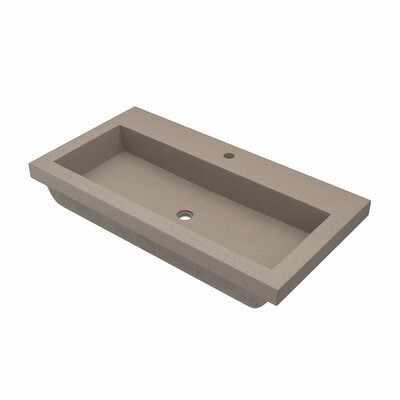 Sink Faucet Rectangular Drop Mount Single Faucet Sink Earth 376 Product Photo