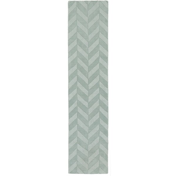 Sunburst Handwoven Wool Teal Area Rug by Greyleigh
