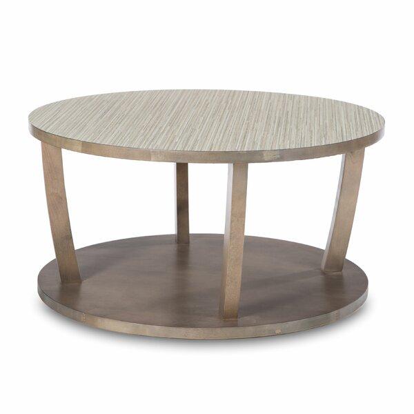 Newport Solid Wood Floor Shelf Coffee Table By Akin