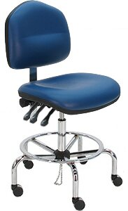 Cleanroom Lab Upholstered Drafting Chair by Symple Stuff