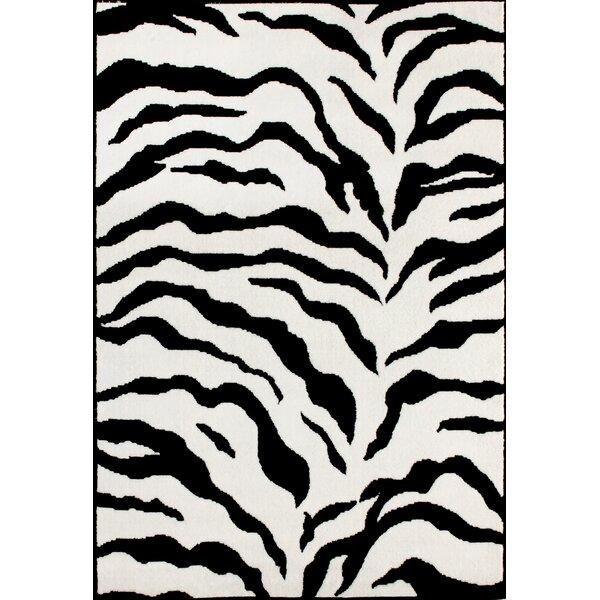 Weber Zebra Black/Ivory Area Rug by Bloomsbury Market