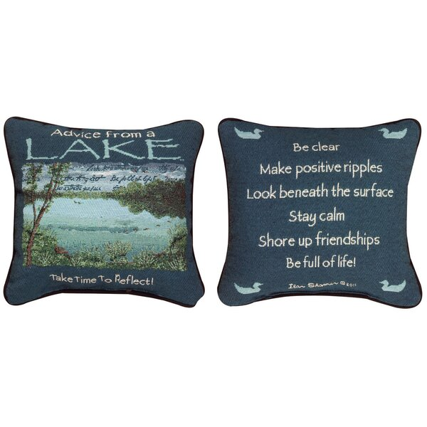 Advice from the Lake Throw Pillow by Manual Woodworkers & Weavers
