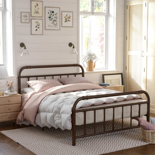 Damaris Metal Bed Frame By Williston Forge