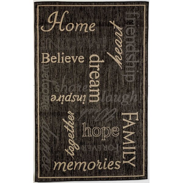 Cassella Home Black Indoor/Outdoor Area Rug by Winston Porter