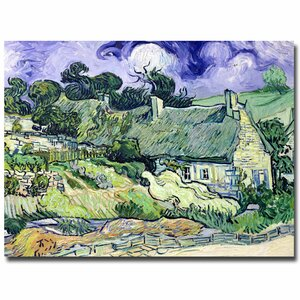 Cottages at Auvers-Sur-Oise by Vincent Van Gogh Painting Print on Wrapped Canvas by Charlton Home