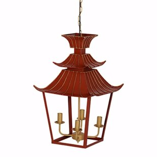 Pagoda chandelier wayfair thibaut 4 light lantern chandelier aloadofball Image collections