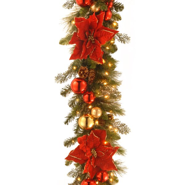 6 Foot Decorative Pre-Lit Home for the Holidays Faux Garland by Andover Mills
