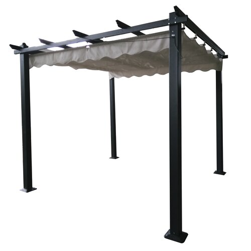 Alethea 3m x 3m Aluminium Pergola Sol 72 Outdoor Colour: Grey