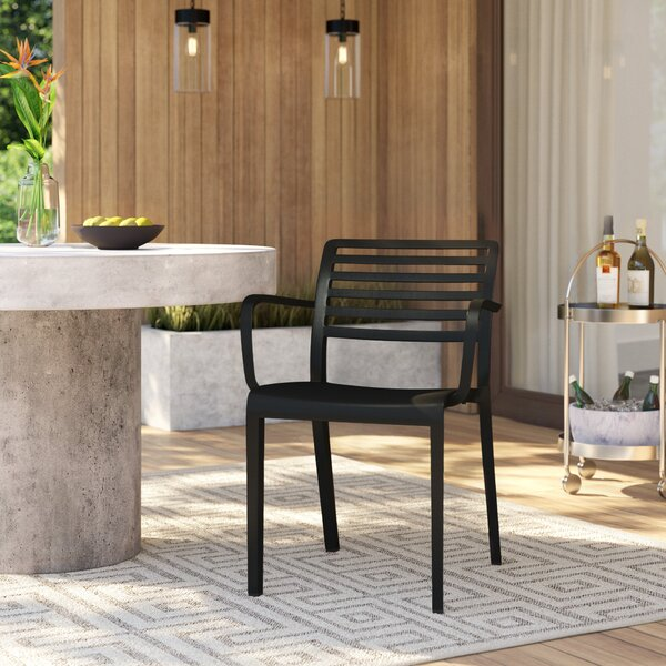Carpentier Stacking Patio Dining Chair (Set Of 2) By Mercury Row