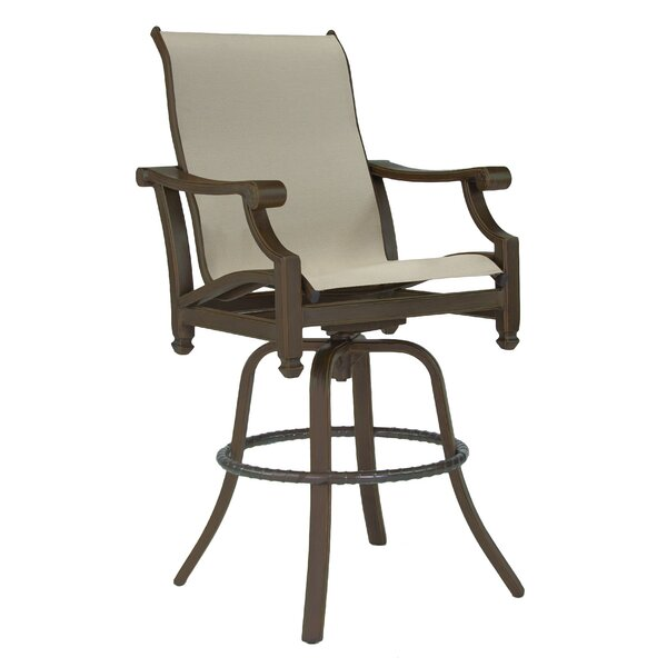 Grand Regent Sling Swivel Patio Bar Stool by Leona