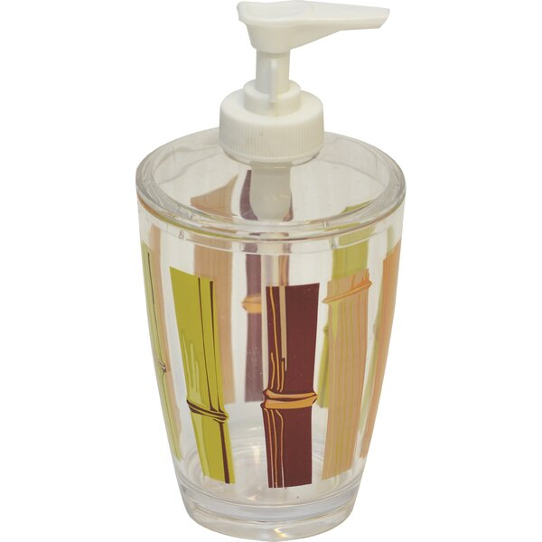 Java Clear Acrylic Printed Bathroom Soap Dispenser by Evideco