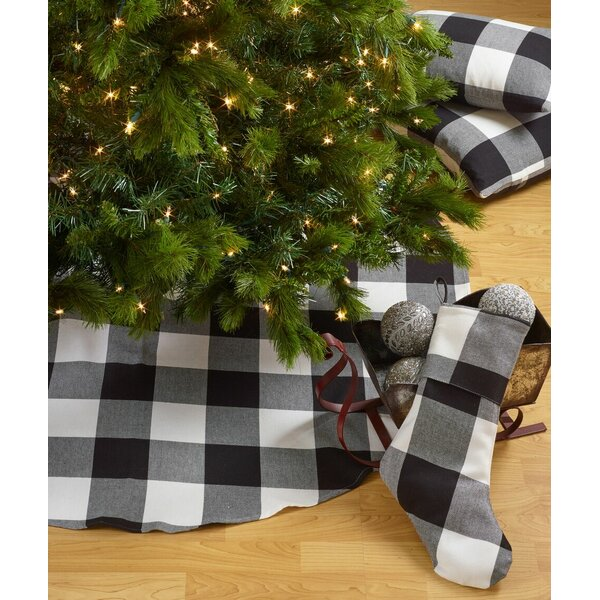 Farmersville Plaid Cotton Christmas Tree Skirt by