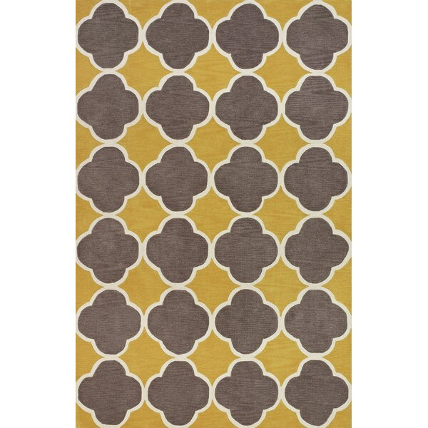 Mitchel Dandelion/Brown Area Rug by Ivy Bronx