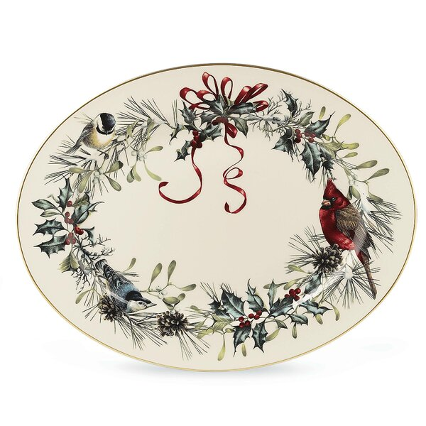Winter Greetings Oval Platter by Lenox
