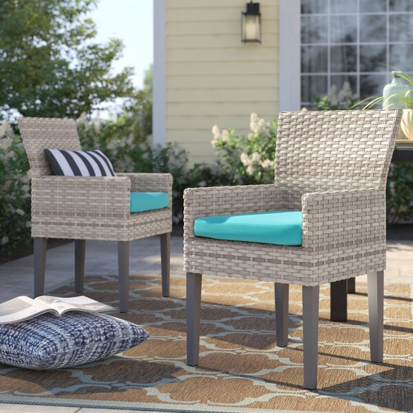 Falmouth Patio Dining Chair with Cushion (Set of 2) by Sol 72 Outdoor