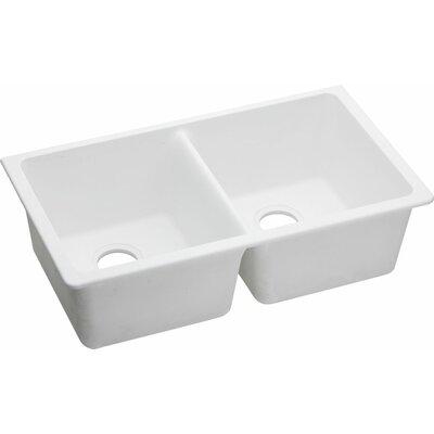 """White Undermount Kitchen Sinks elkay quartz classic 33"""" x 18.75"""" undermount kitchen sink"""