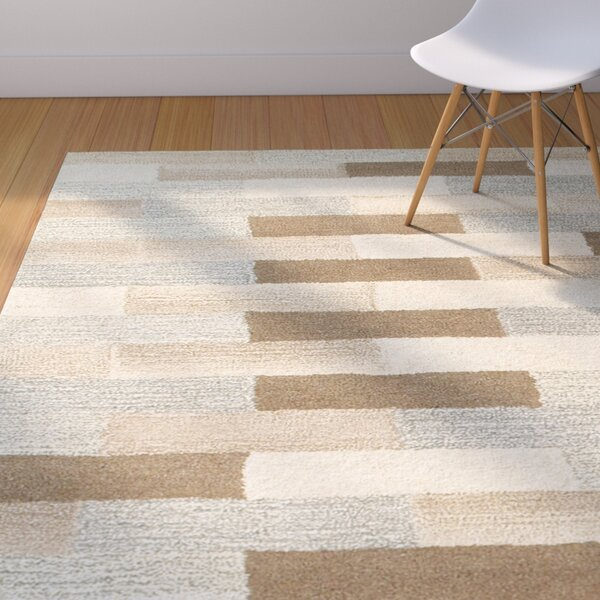 Frank Hand-Tufted Wool Beige Area Rug by Corrigan