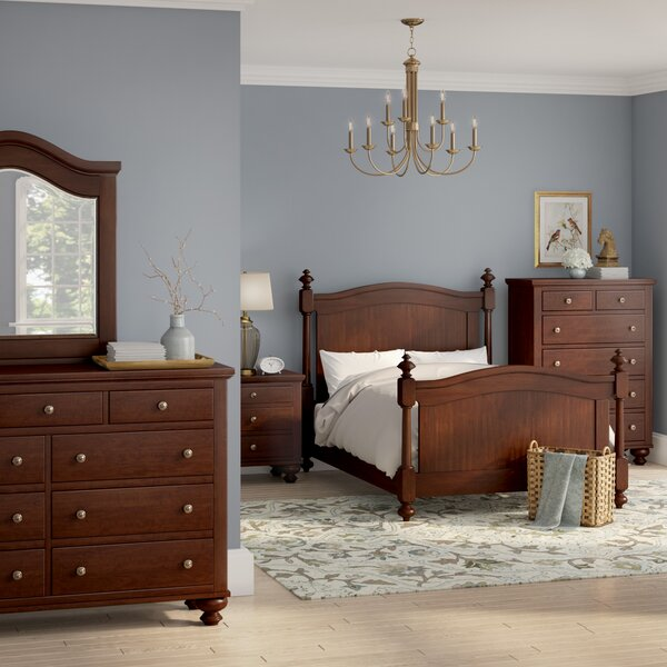 Metropolis Queen Panel 5 Piece Bedroom Set by Three Posts