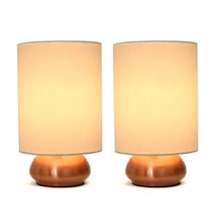 Where buy  Ariana Mini Touch 9.2 Table Lamp with Drum Shade Set (Set of 2) By Zipcode Design