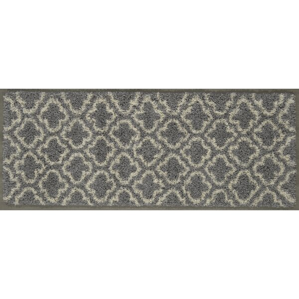 Shebeen Floral Gray/White Indoor/Outdoor Area Rug by Charlton Home