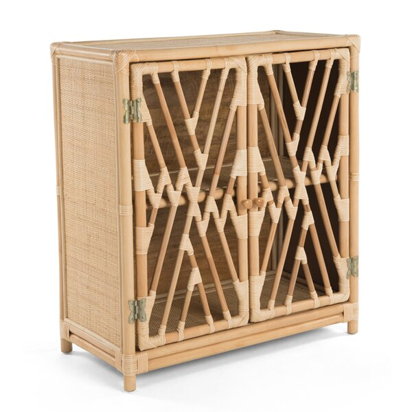Margrett Rattan 2 Door Accent Cabinet by Bayou Breeze Bayou Breeze