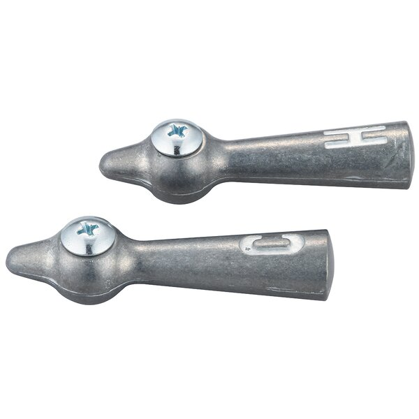 Lever Laundry Cold and Hot Faucet Handles with Screws by Central Brass