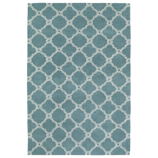 Gannaway Turquoise Area Rug by Charlton Home