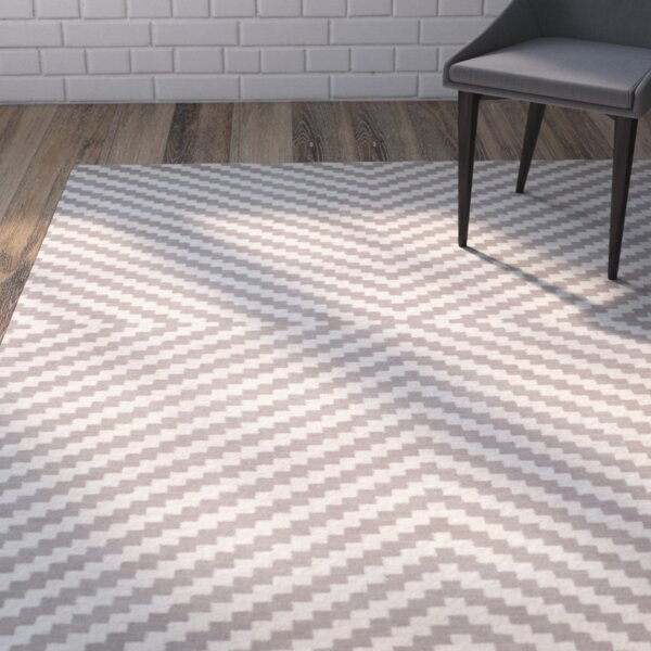 Martins Grey & Ivory Area Rug by Wrought Studio