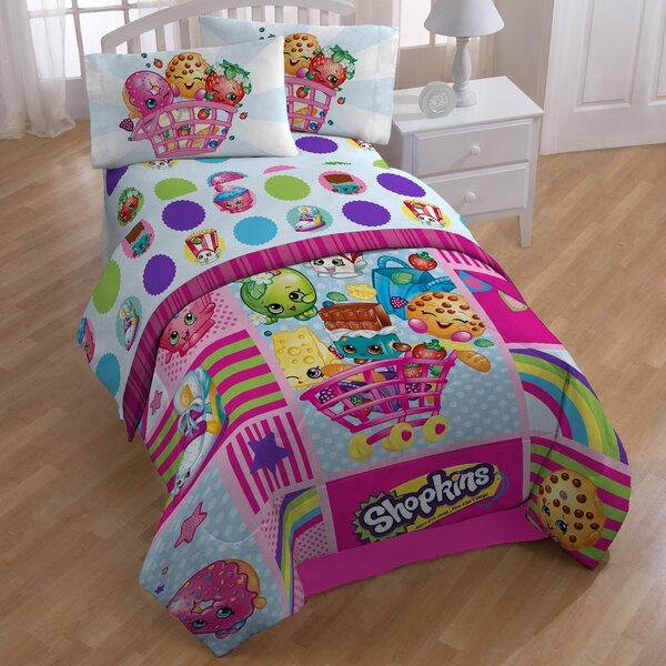 Shopkins Patchwork 132 Thread Count Extra Deep Pocket Sheet Set by Disney