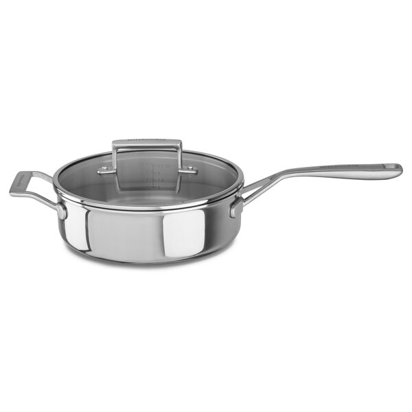 3.5 Qt. Tri-Ply Saute Pan with Lid by KitchenAid