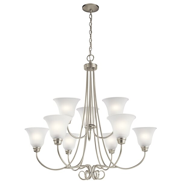 Bourneville 9 - Light Shaded Classic / Traditional Chandelier by Darby Home Co Darby Home Co