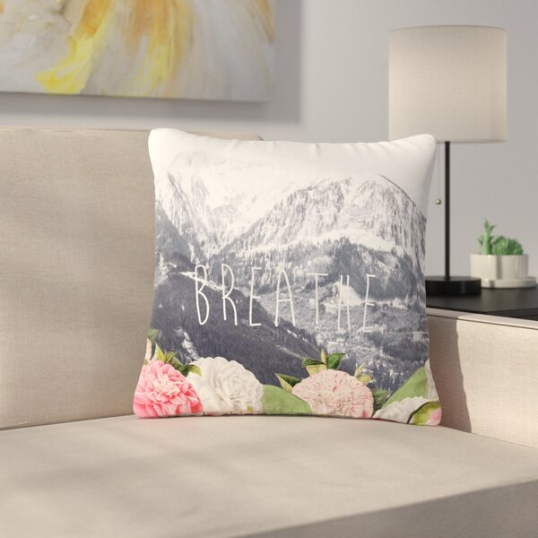 Suzanne Carter Breathe Floral Landscape Outdoor Throw Pillow by East Urban Home