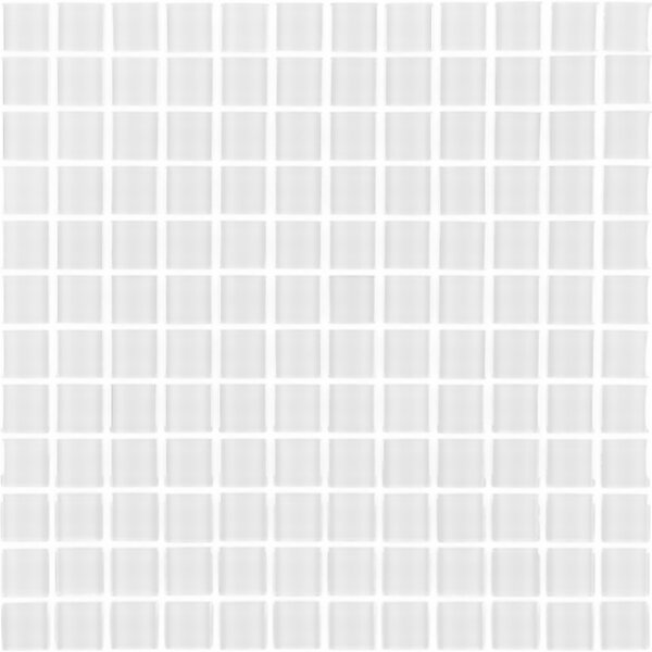 Metro 1 x 1 Glass Mosaic Tile in White by Abolos