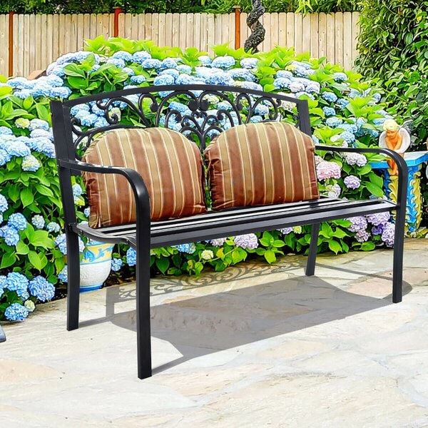 Affric Backrest Porch Garden Bench by Fleur De Lis Living