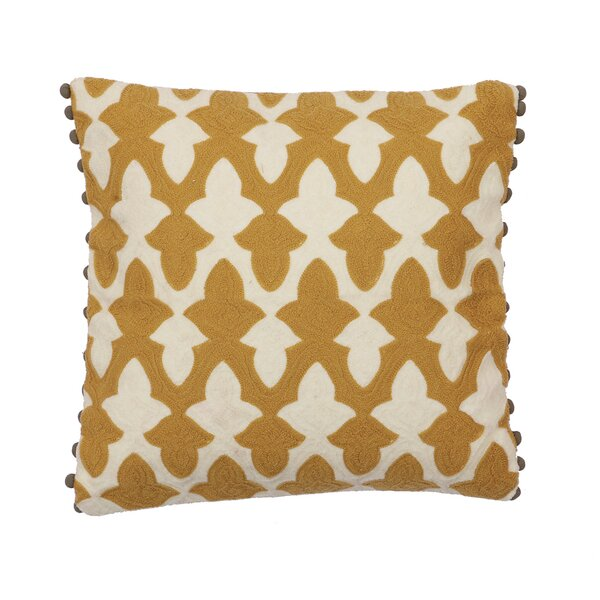 Binder Cotton Throw Pillow by Three Posts
