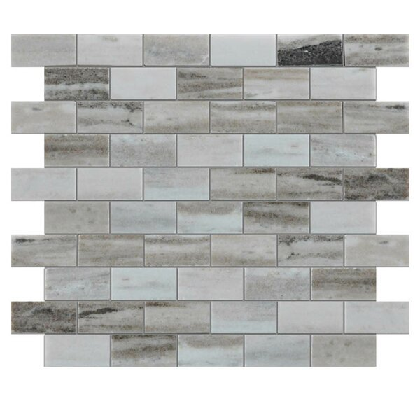 Polished 1 x 2 Natural Stone Mosaic Tile in Gray by QDI Surfaces