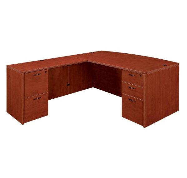 Fairplex Bow Front L-Shape Executive Desk by Flexsteel Contract