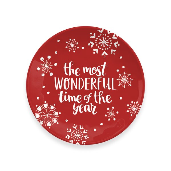 Holiday Cheers Melamine Cookie Platter by The Holiday Aisle